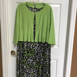 Julian Taylor 2 piece dress and top Size 22 W